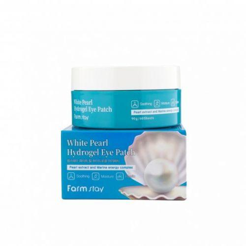 034185 FarmStay Гидрогелевые патчи для глаз с экстрактом жемчуга White Pearl Hydrogel Eye Patch