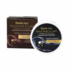 033409 FarmStay Гидрогелевые патчи с черным жемчугом и золотом Black Pearl & Gold Hydrogel Eye Patch