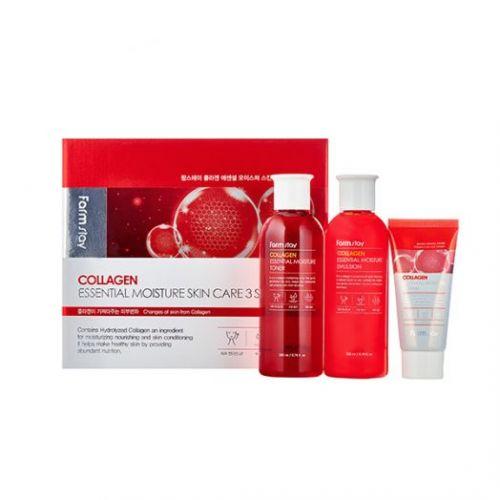 959464 FarmStay Набор средств по уходу за кожей с коллагеном, 3 средства Collagen Essential Moisture Skin Care 3 set