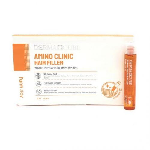 881736 FarmStay Интенсивный филлер для волос с аминокислотами DERMA СUBE Amino Clinic Hair Filler