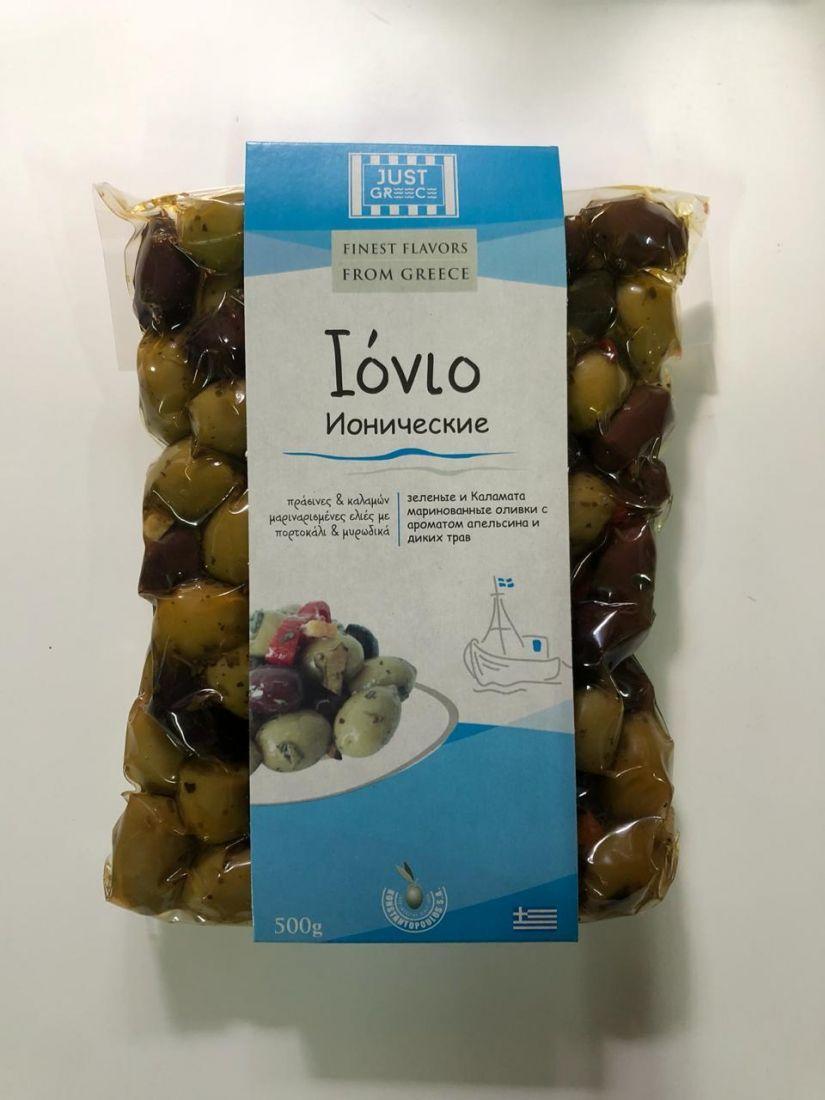 Оливки ионические Just Greece - 500 гр с косточкой