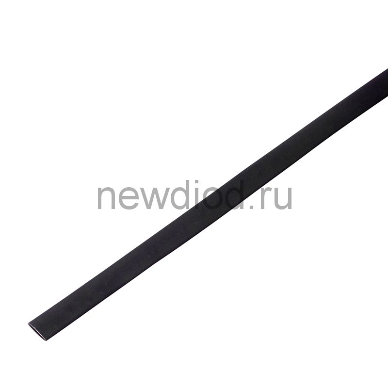 Термоусадочная трубка 10/5,0 мм, черная, упаковка 50 шт. по 1 м PROconnect