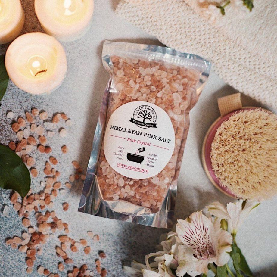 Розовая гималайская соль 1,0 кг (крупный помол)