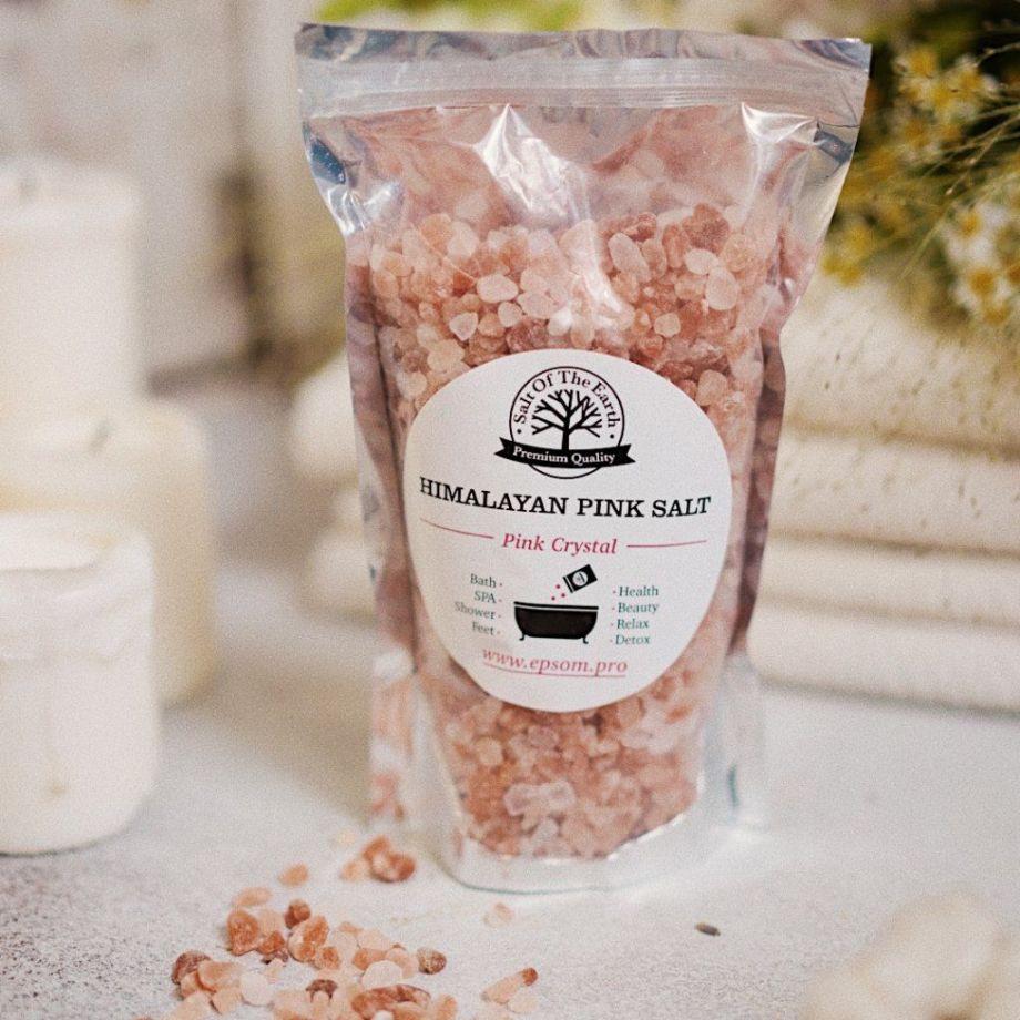 Розовая гималайская соль 0,5 кг (крупный помол)