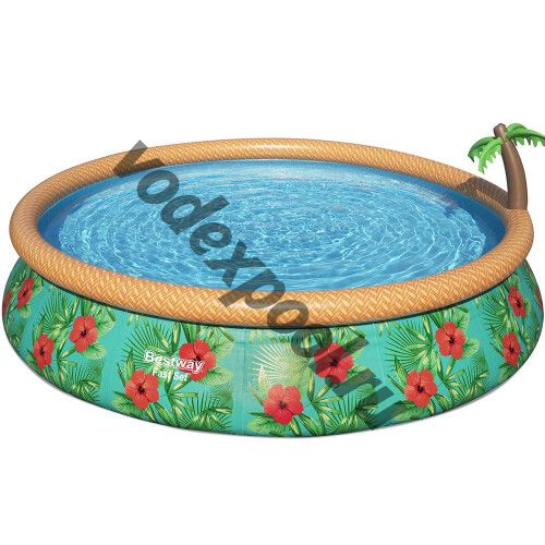 Надувной круглый бассейн Bestway 57416 (457х84 см) Paradise Palms, с картриджным фильтром
