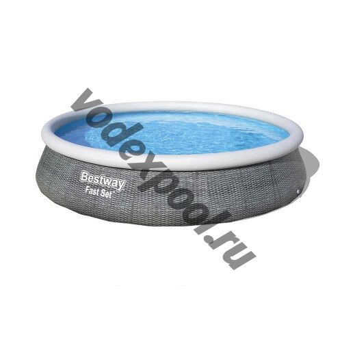 Надувной бассейн Bestway Ротанг 57376 (396х84 см) с картриджным фильтром
