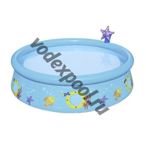 Надувной бассейн Bestway 57326 Морская звезда (152x38 см) с распылителем