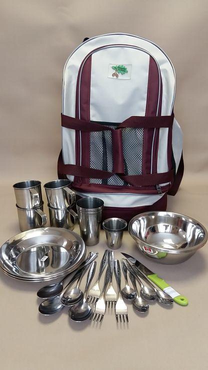 """Набор посуды 555 """"Рюкзак-сумка на 4 персоны"""""""