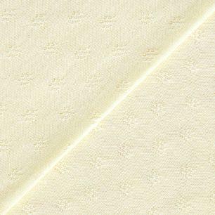 Трикотаж кулирка ажурная нежно-желтая 50*30 см.