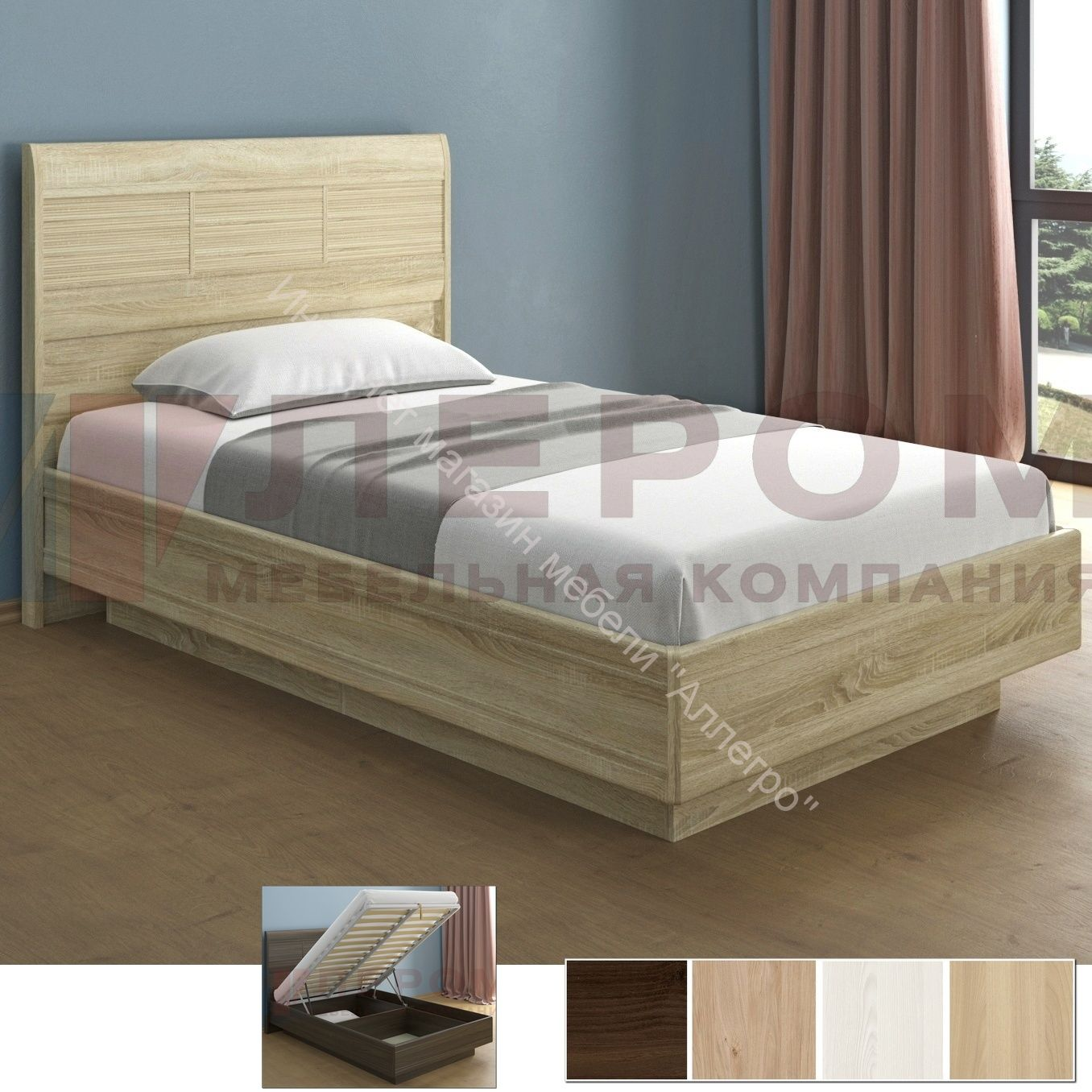 Кровать КР-1802 с П/мех. (1,4х2,0) Мелисса