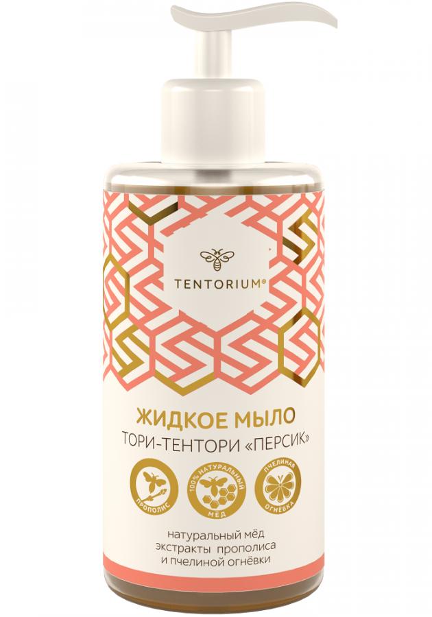 Жидкое мыло Тори-Тентори Персик (с прополисом и пчелиной огневкой), 320мл