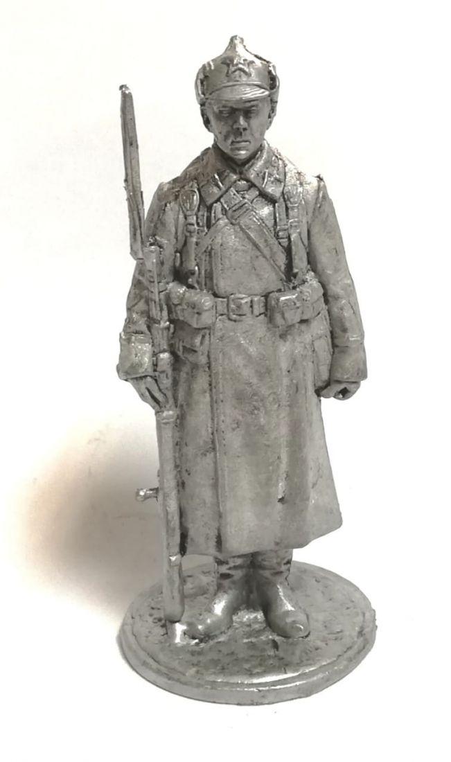 Фигурка красноармеец с винтовой олово