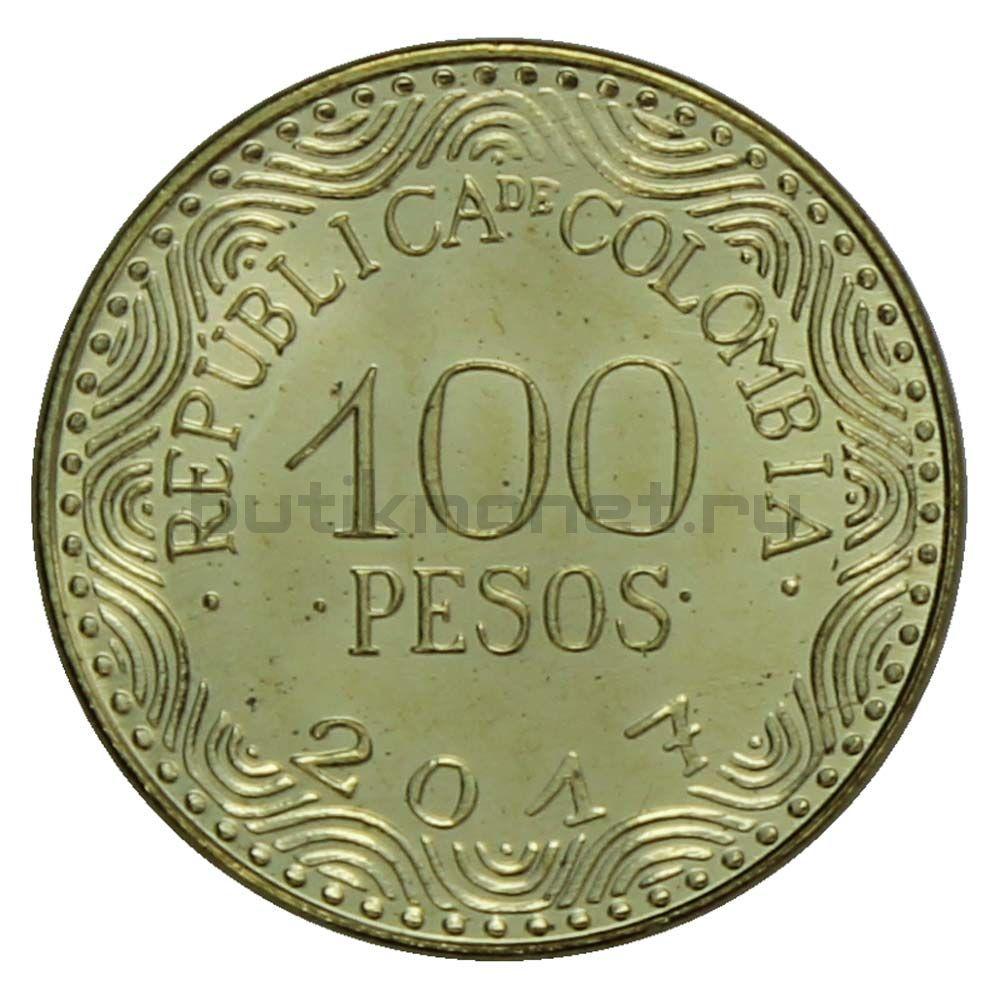 100 песо 2017 Колумбия
