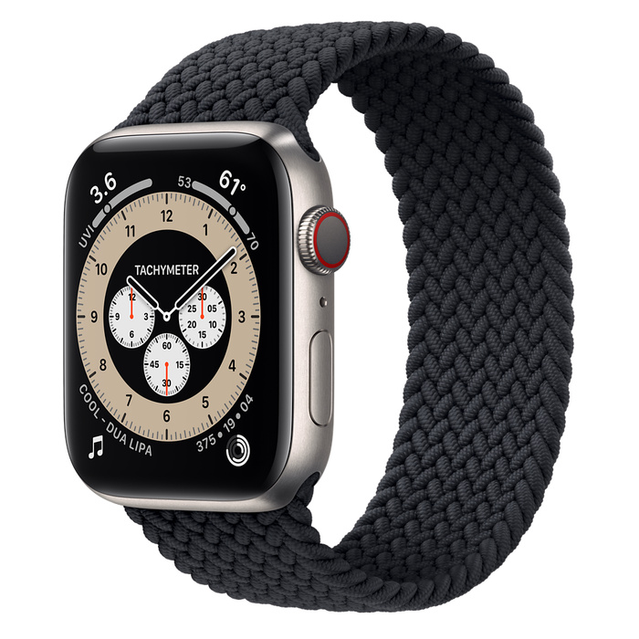 Часы Apple Watch Edition Series 6 GPS + Cellular 44mm Titanium Case with Charcoal Braided Solo Loop