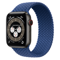 Часы Apple Watch Edition Series 6 GPS + Cellular 44mm Space Black Titanium Case with Atlantic Blue Braided Solo Loop