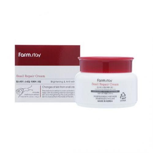 284613 FarmStay Восстанавливающий крем с муцином улитки Snail Repair Cream