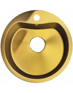 Мойка кухонная врезная Seaman Eco Roma SMR-510A-Gold 1. с отверстием под смеситель золото