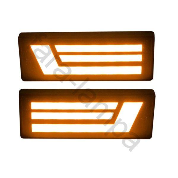 Поворотники на Ниву светодиодные полоски