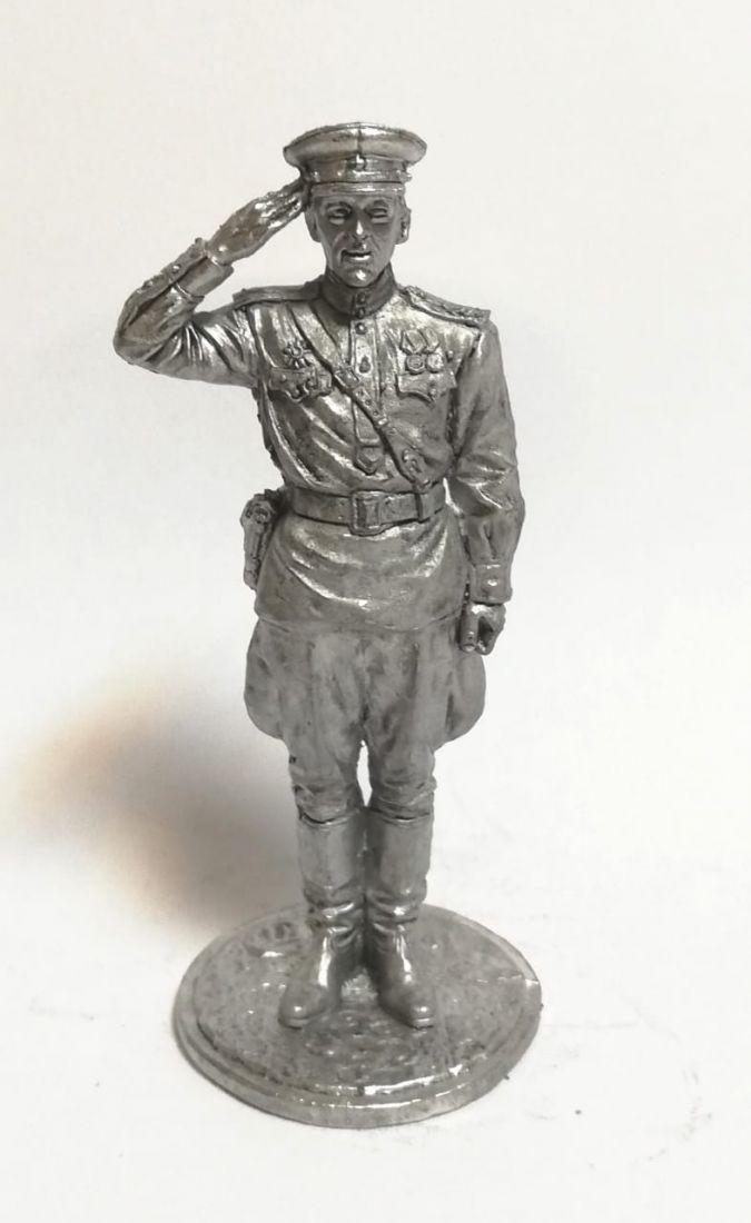Фигурка Гвардии капитан Красной Армии олово