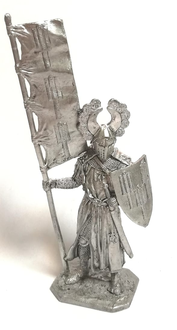 Фигурка тевтонский рыцарь олово