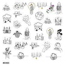 Слайдер-дизайн для ногтей № 0393