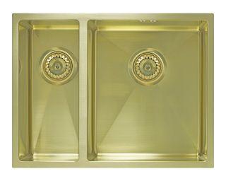 Мойка под столешницу Seaman Eco Marino SME-575DL Light Gold (PVD),светлое золото