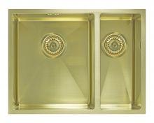 Мойка под столешницу Seaman Eco Marino SME-575DR Light Gold (PVD), светлое золото
