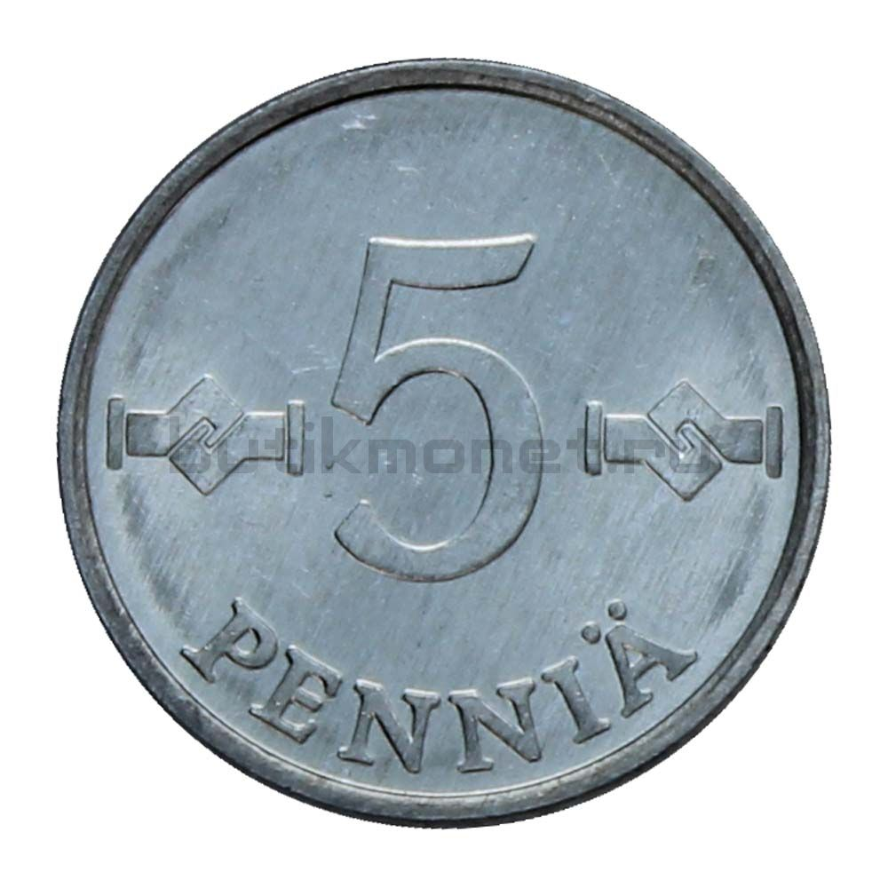 5 пенни 1977 Финляндия