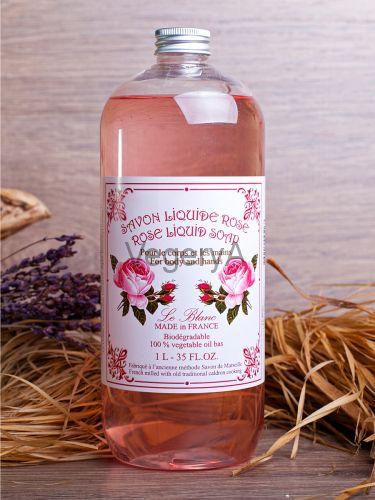 Ароматическое жидкое мыло доливник Le Blanc Роза