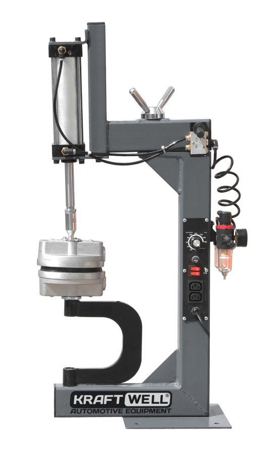 KraftWell KRW18VLP Вулканизатор настольный с пневмоприжимом
