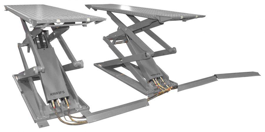 KraftWell KRW3FS Подъемник ножничный короткий г/п 3000 кг.  напольный