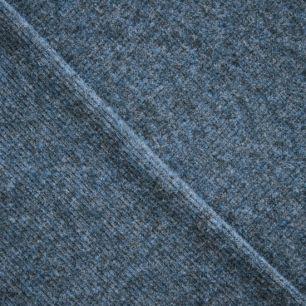 Лоскут трикотажной ткани кашкорсе Индиго 50*27 см.