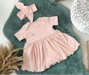 Боди-платье, светло-розовый