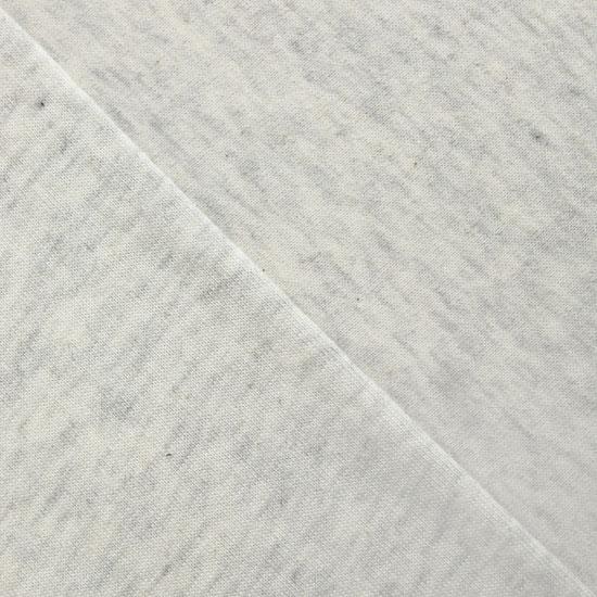 Трикотаж кулирка бело-бежевая меланж 50*30 см.