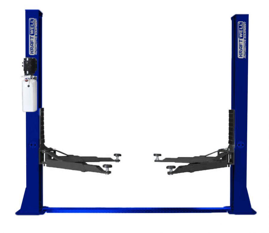 KraftWell KRW4ML_blue Подъемник двухстоечный г/п 4000 кг. электрогидравлический