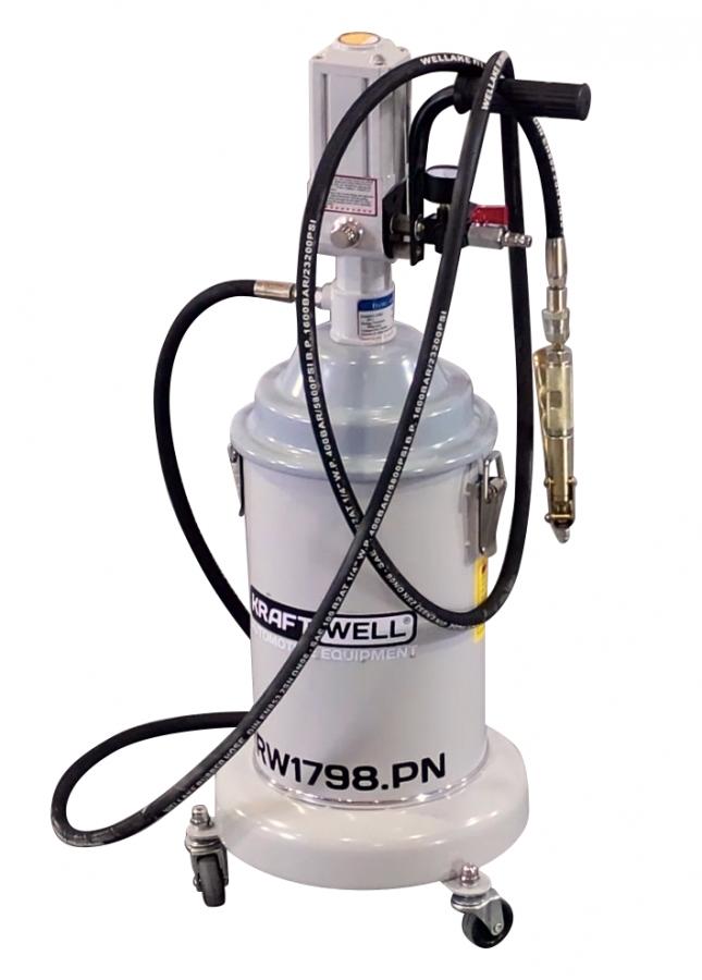 KraftWell KRW1798.PN Нагнетатель солидола мобильный с пневмоприводом