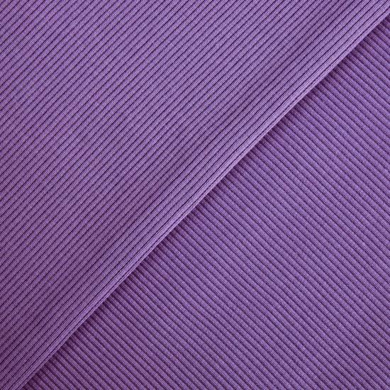 Лоскут трикотажной ткани кашкорсе - резинка Фиолетовый 27*50 см.