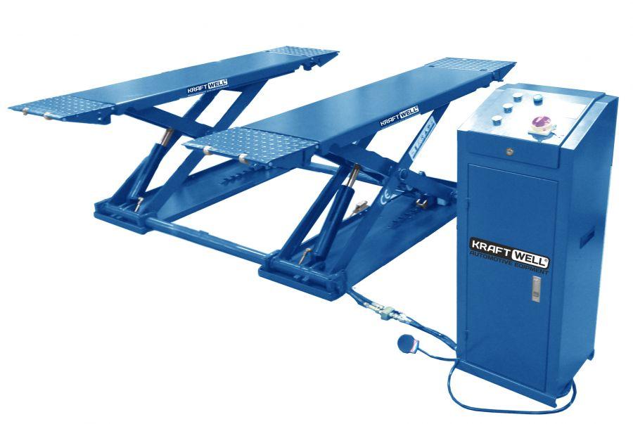 KraftWell KRW3TN/380_blue Подъёмник ножничный короткий шиномонтажный г/п 3000 кг.