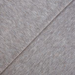 Лоскут трикотажной ткани кашкорсе Серый меланж 27*50 см.