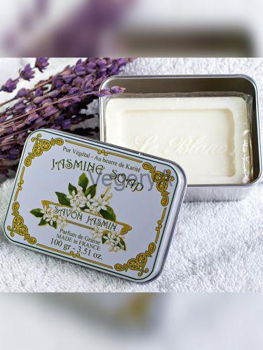 Мыло Le Blanc в жестяной коробочке Жасмин