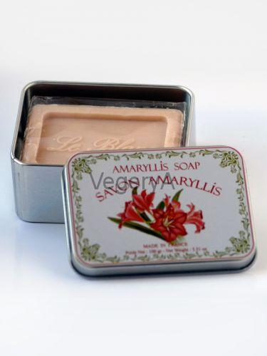 Мыло Le Blanc в жестяной коробочке Амарилис