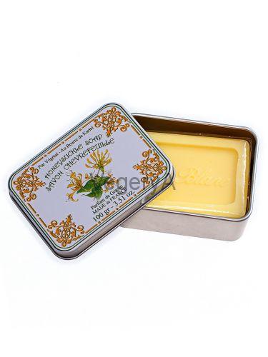 Мыло Le Blanc в жестяной коробочке Жимолость