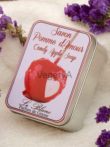 Мыло Le Blanc в жестяной коробочке Яблоко в карамели