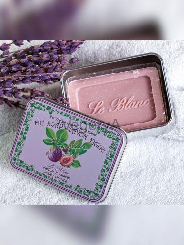 Мыло Le Blanc в жестяной коробочке Инжир