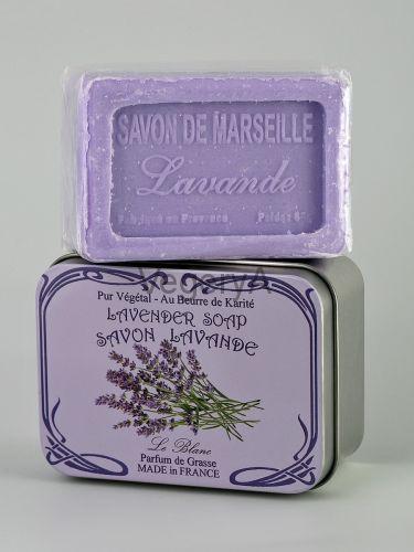 Мыло Le Blanc в жестяной коробочке Лаванда