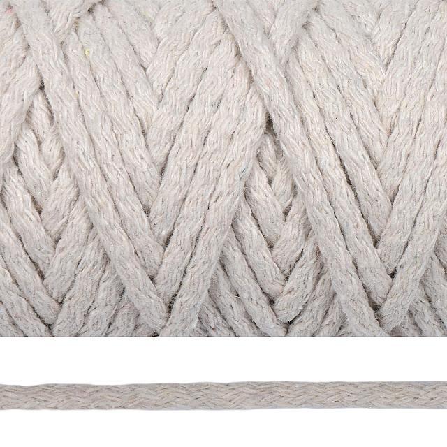 Фото Шнур хлопковый круглый 5 мм плетеный без сердечника ХББС5.2199 кремовый