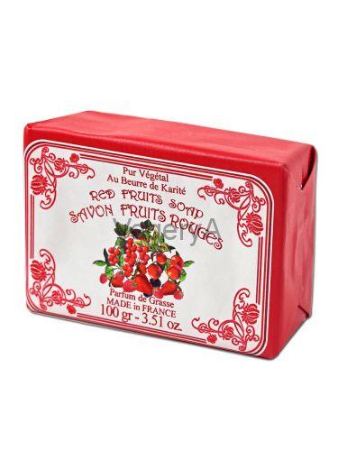 Мыло Le Blanc в бумажной упаковке Красные ягоды