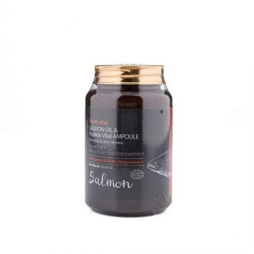 772573 FarmStay Многофункциональная ампульная сыворотка с маслом лосося и пептидами Salmon Oil &Peptide Vital Ampoule