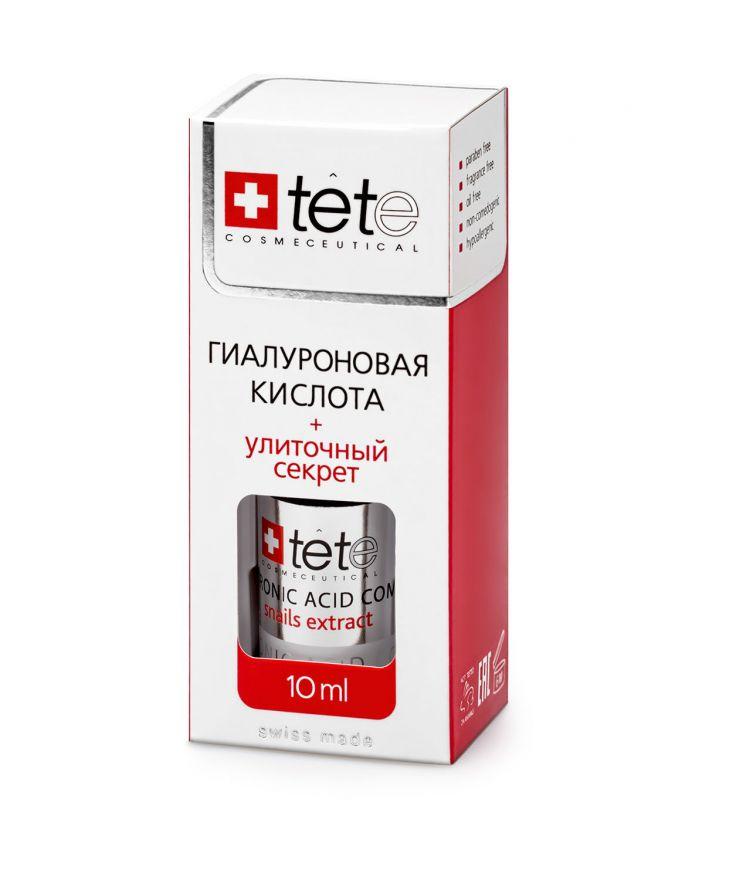 Гиалуроновая кислота + Улиточный секрет  TETe MINI Hyaluronic Acid + Snail Extract 10 мл