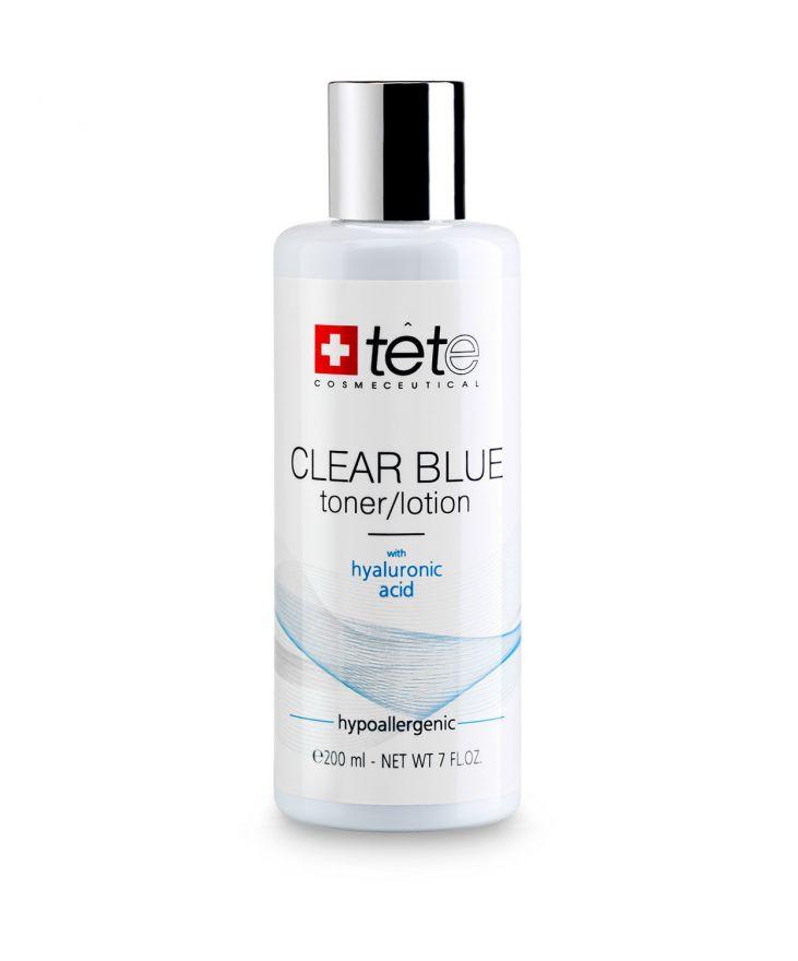 Тоник-лосьон с гиалуроновой кислотой TETe CLEAR BLUE Toner-Lotion